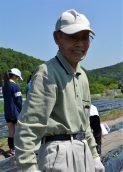 6月の稲津さん 長寿会の渡辺さん