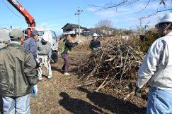 小里川河川 立木伐採除去 川上編