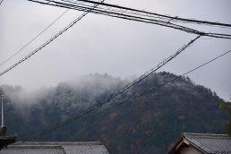 稲津の山も雪化粧